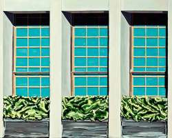 "Chestnut St. Windows, 2014  (36"" x 48"")"