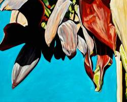 "Banana Blossoms Blue Sky, 2013  (36"" x 48"")"