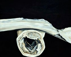 "Marrow Bone with Rib, 2013  (28"" x 22"")"