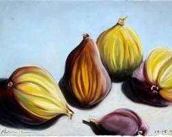 "Figs for Edward's Birthday, 2005  (9.5"" x 12.75"")"